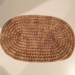 WICKER Straw like placemats lot of  4  Oblong